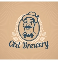 Old brewery or beer house logo vector