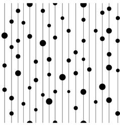 Polka dot black on line seamless pattern vector image vector image