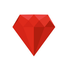 Ruby icon flat style vector