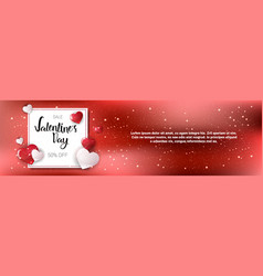 sales on valentines day shopping discounts vector image vector image