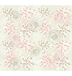 seamless cute floral pattern vector image