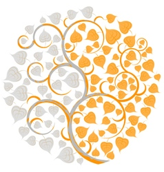 Silver leaf and gold vector