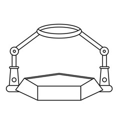 table magnify icon outline style vector image