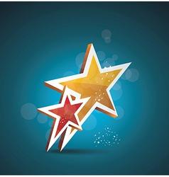 Two gold stars 100 satisfaction guarantee vector image vector image