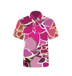 Unisex T-shirt with the Image Flower vector image