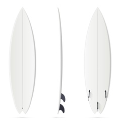 White surfing board template - hybrid vector