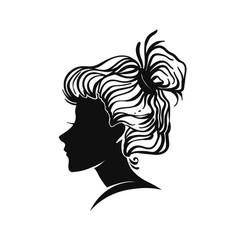woman portrait vignette vector image vector image