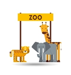 zoo animals design vector image vector image