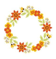 Autumn Floral Wreath vector image