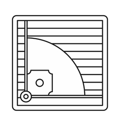 Baseball field icon outline style vector