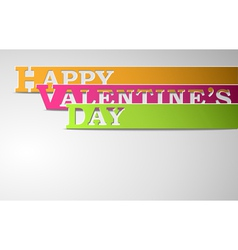 Happy valentines day strips vector