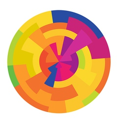 Colorful circle abstract vector
