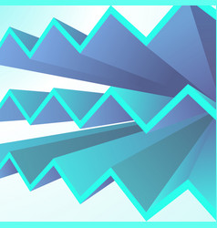 abstract geometric background with blue triangle vector image