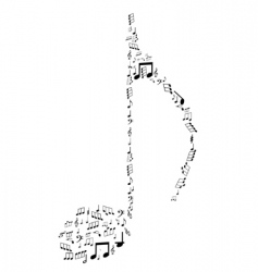 Note design by musical notes vector