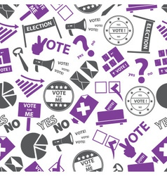 Election simple icons seamless color pattern eps10 vector