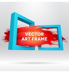 3D template with out of frame brush stroke vector image vector image