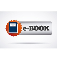 E-book button vector