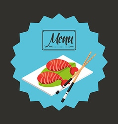 Menu japanese vector