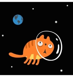 Character space cat vector