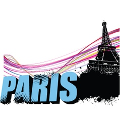 Paris border vector