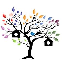 tree house vector image