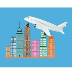 Airplane vehicle and transportation design vector