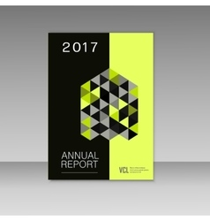 Annual report design with abstract triangles vector image