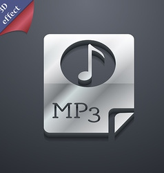 Audio MP3 file icon symbol 3D style Trendy modern vector image