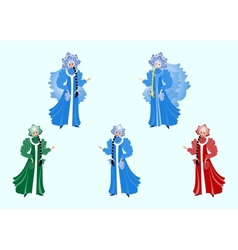 Beautiful snow maiden vector image