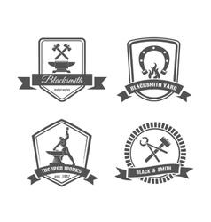 Blacksmith labels vector image vector image