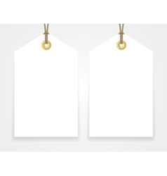Blank sale tags mock up set vector image vector image