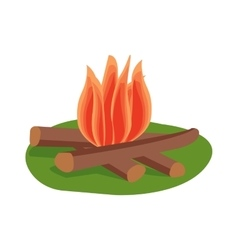Bonfire isolated vector image