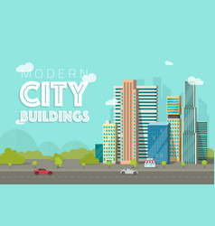 buildings city flat vector image vector image