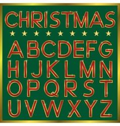 Christmas Font vector image