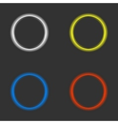 Color rings on a black background vector