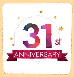 Colorful polygonal anniversary logo 2 031 vector