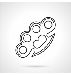 Contour icon for brass knuckles vector image