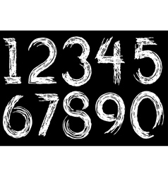 Digits drawn paint vector
