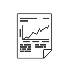 Document data information icon graphic vector image