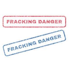 Fracking danger textile stamps vector