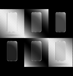 frames in the form of a smartphone vector image vector image