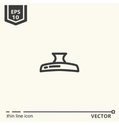 Hairdressing tools Icons series Hair clip vector image vector image