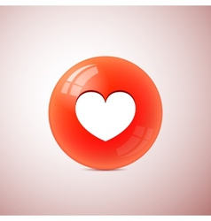 heart symbol on the ball vector image vector image