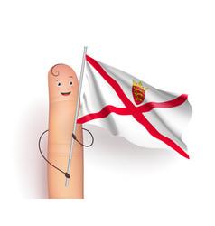 Jersey waving flag vector
