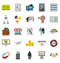 Locker icons set cartoon style vector