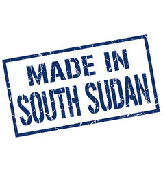 made in south sudan stamp vector image vector image