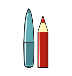 Pan and pencil isolated on a white background vector
