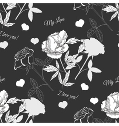 Seamless pattern with rose13 vector image vector image