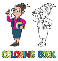 secretary or receptionist woman coloring book vector image
