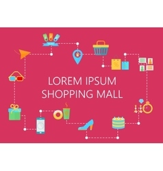 Shopping mall decoration map concept interactive vector